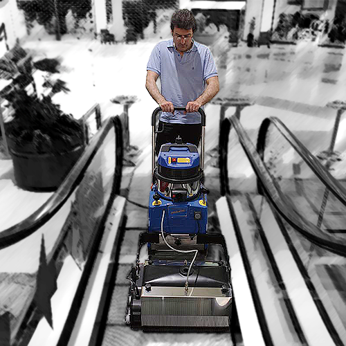 Stroje na čistenie eskalátorov
