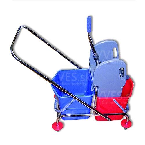 Upratovací vozík PRESS 2 x 17 l chrom