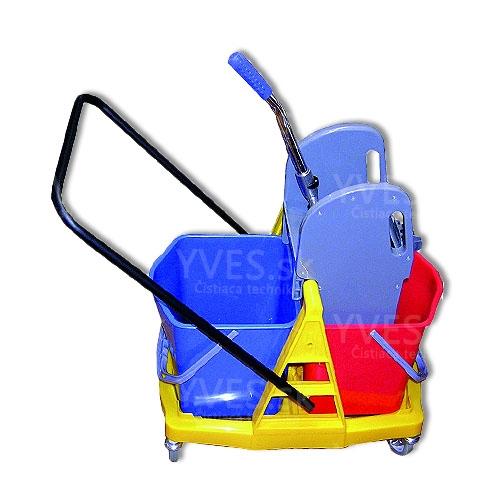 Upratovací vozík PRESS 2 x 17 l plast
